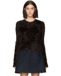 Carven Black Faux_mohair Sweater