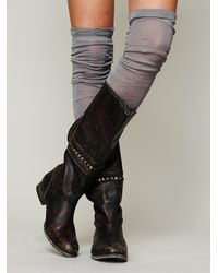 Free People Gray Womens Sheer Thigh Hi Legwarmer