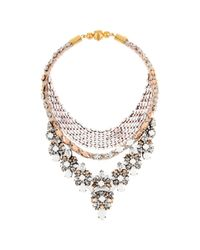 Shourouk | White River Chalk Necklace | Lyst