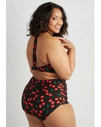 7cd2f0356237e Esther Williams Swimwear. Women s Fruity Suity Two-piece Swimsuit In Black  - Plus Size
