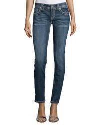 Miss Me | Blue Signature Skinny Jeans | Lyst