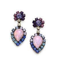 DANNIJO | Multicolor Swarovski Crystal Earrings | Lyst