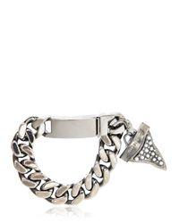 Givenchy Metallic Embellished Shark Tooth Bracelet for men