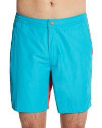 Onia - Blue Calder Colorblock Swim Shorts for Men - Lyst