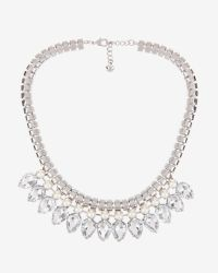 Ted Baker - Gray Teardrop Crystal Necklace - Lyst