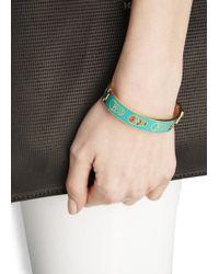 Alexander McQueen | Green Enamel Cut-Out Skull Bracelet | Lyst