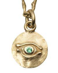 Brevard - Metallic Egyptian Emerald Eye Pendant - Lyst