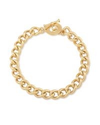Carolee | Metallic 12k Goldplated Chain Link Toggle Necklace | Lyst