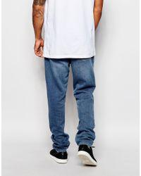 Adidas Originals - Blue Denim Joggers Ab8057 for Men - Lyst