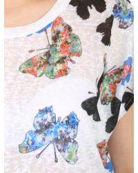 Izabel London | Blue Oversized Butterfly Print Top | Lyst
