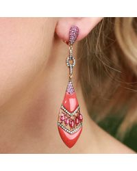 Wendy Yue | Pink Coral Shield Earrings | Lyst