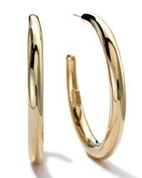 Ippolita | Metallic 18k Gold #3 Smooth Hoop Earrings | Lyst