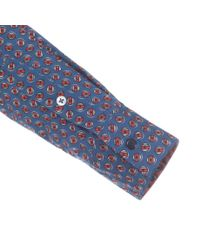 Paul Smith - Women's Blue 'foulard' Print Shirt With Contrasting Yoke - Lyst
