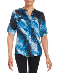 Calvin Klein Blue Patterned Blouse