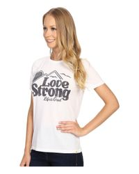Life Is Good. White Love Strong Mountain Cool Tee
