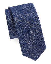 Original Penguin | Blue Slim Abstract Tie for Men | Lyst