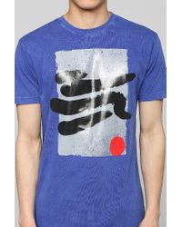 Urban Outfitters | Blue Boxed Paint Strokes Tee for Men | Lyst