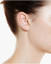 Asherali Knopfer Pink 18K Gold And Grey Diamond Theo Earring