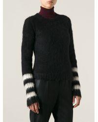 Dondup - Black Striped Cuff Sweater - Lyst