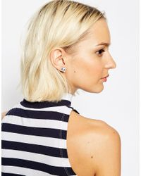 ASOS - Multicolor Robot Stud Earrings - Lyst