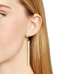 Ralph Lauren Metallic Lauren Bar Drop Earrings