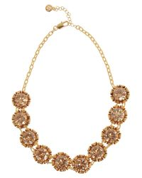 Tory Burch | Metallic Leah Goldplated Crystal Necklace | Lyst