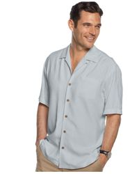 Tommy Bahama - Gray Macy's Exclusive Bird It Through The Grapevine Silk Shirt for Men - Lyst