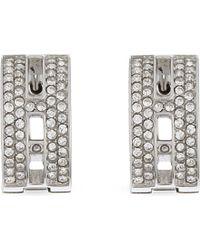 Michael Kors - Metallic Brilliance Huggie Pavé Earrings - Lyst