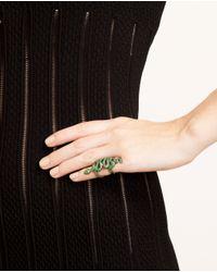 Loree Rodkin Green Coiled Snake Bondage Ring with Tsavorites
