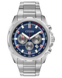 Citizen - Metallic Men's Chronograph Eco-drive Stainless Steel Bracelet Watch 43mm Ca4220-80l for Men - Lyst