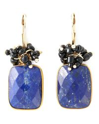 Isabel Marant - Metallic Square Stone Earrings - Lyst