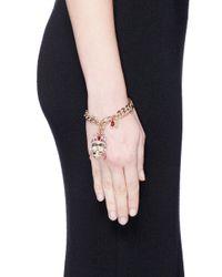 Alexander McQueen - Red Royal Skull Bracelet - Lyst