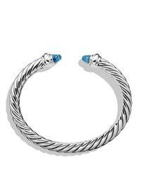 David Yurman Metallic Waverly Bracelet With Blue Topaz