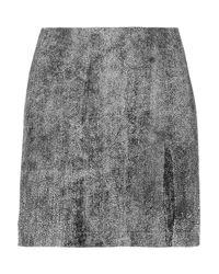 3.1 Phillip Lim Black Coated Leather Mini Skirt