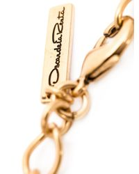 Oscar de la Renta | Metallic Large Octagonal Stone Necklace | Lyst