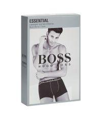 BOSS White Cotton Stretch Logo Trunks for men