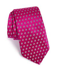 Ted Baker | Pink Geometric Silk Tie for Men | Lyst