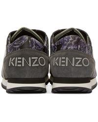 KENZO - Gray Grey & Purple Flying Tiger Sneakers - Lyst