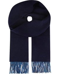 Paul Smith | Blue Double-faced Wool & Cashmere Scarf for Men | Lyst