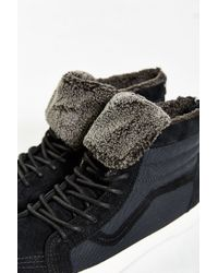Vans - Black Sky-hi Plush Zip Sneaker for Men - Lyst