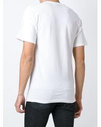 Stussy White Logo Print T-shirt for men