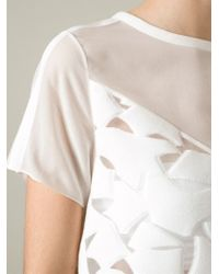Viktor & Rolf - Natural Textured Sheer Blouse - Lyst