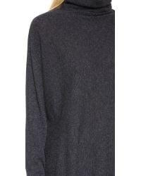 Autumn Cashmere - Blue Dolman Scrunch Neck Sweater - Cavalry - Lyst