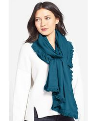 La Fiorentina - Blue Wool & Cashmere Scarf - Lyst