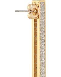Noir Jewelry Metallic Gold-Tone Crystal Earrings