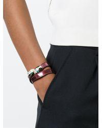 BVLGARI | Red 'serpenti' Wrap Bracelet | Lyst