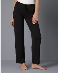 DKNY Black Plus Drawstring Pajama Pants