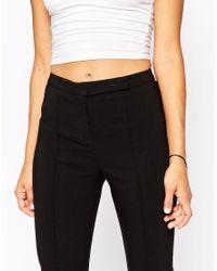 ASOS - Black High Waist Pant In Skinny Fit - Lyst