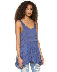 Free People | Trapeze Tunic Dress - Denim Blue | Lyst