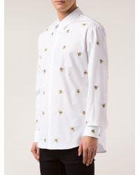 DSquared² White Embroidered Banana Shirt for men